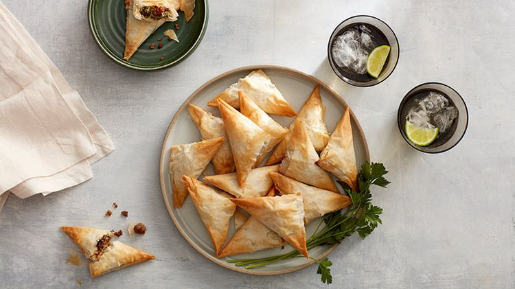 Ricotta Sausage Triangles
