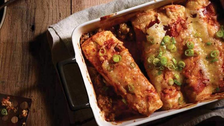 Sausage and Cheese Enchiladas