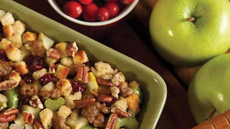 Maple Apple Sausage Stuffing