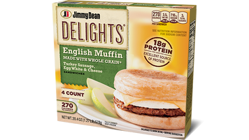 Delights Turkey Sausage, Egg White & Cheese English Muffin