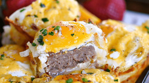 Sausage Hash Brown Cups