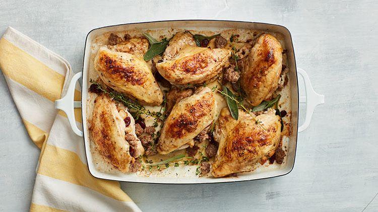 Maple Sausage Stuffed Chicken Dinner Recipe Jimmy Dean Brand