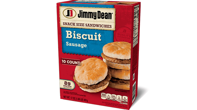 Jimmy Dean Sausage Biscuit Snack Size Sandwiches