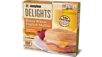 Delights Canadian Bacon, Egg White & Cheese Honey Wheat English Muffin
