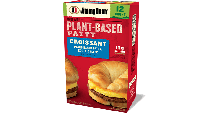 Plant-Based Patty, Egg & Cheese Croissant Sandwiches
