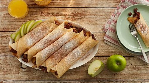 Sausage and Apple Crepes